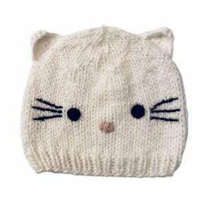 Hello Kitty Knit Winter Hat w/ Cat Ears